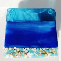 Summer Beach Fused Glass Coasters   Tracey Harris